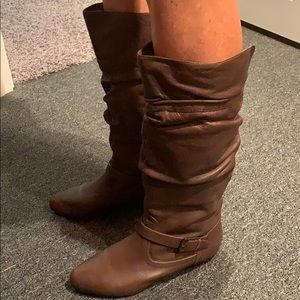 GENUINE LEATHER SLOUCH BOOTS SIZE 8.5